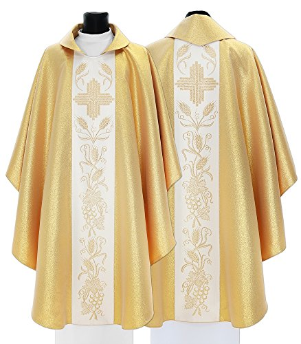 Gold Gothic Chasuble Vestment 045-G (gold)