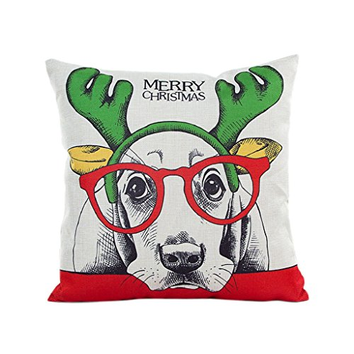 [LUNIWEI Pillow Case Christmas Home Decor Bed Sofa Cushion Cover(No Pillow Insert)] (2 Elves Dog Costume)