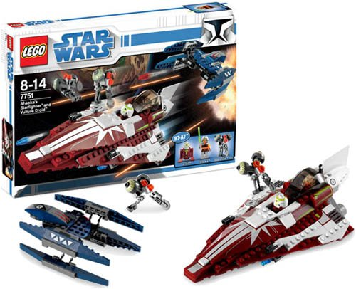 amazoncom lego 7751 ahsokas starfighter and vulture droid toys games - Lego Vaisseau Star Wars