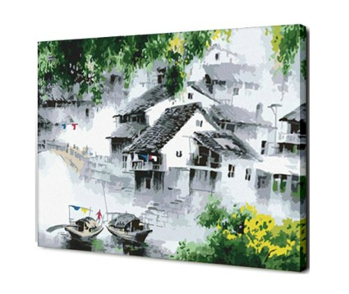 Diy oil painting, paint by number kit- Yangtze River Delta 1620 inch. by Colour Talk