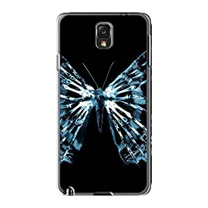Wwaa Galaxy Note 3 Hybrid Tpu Case Cover Silicon Bumper Butterfly X Ray