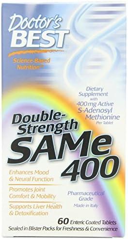 Doctor's Best SAM-e 400 - 60 ct (Pack of 2)