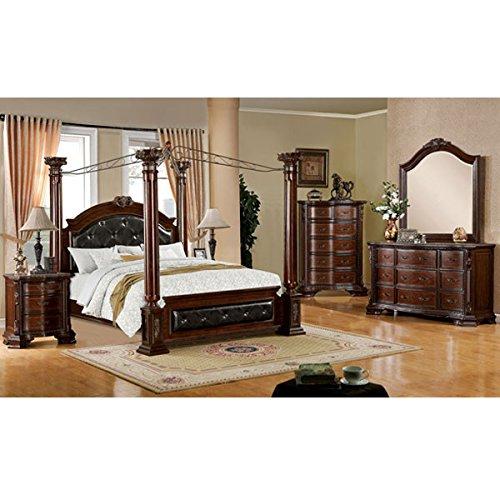 247SHOPATHOME Idf-7271CK-6PC Bedroom-Furniture-Sets, California King, (California King Dresser)