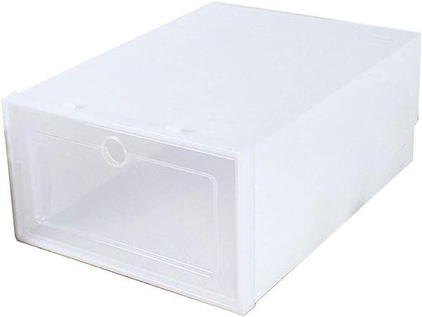 Miya Caja de Cajas de cajón de plástico Duradero Caja de Zapatos Transparente Organizador de casa Zapatillas de Deporte Organización Almacenamiento Gabinete de Zapatos: Amazon.es: Hogar