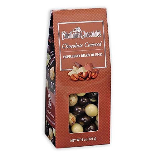 Espresso Dilettante Beans (Chocolate Covered Espresso Bean Blend - 6 oz Gift Box - by Dilettante (4 Pack))