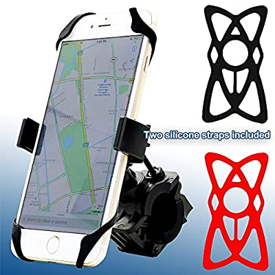MOTOPOWER MP0616B Universal Bike Motorcycle Phone Mount Holder Mountain & Road Bicycle Motorcycle Handlebar Cradle Holder - Holds Phones Up to 3.7