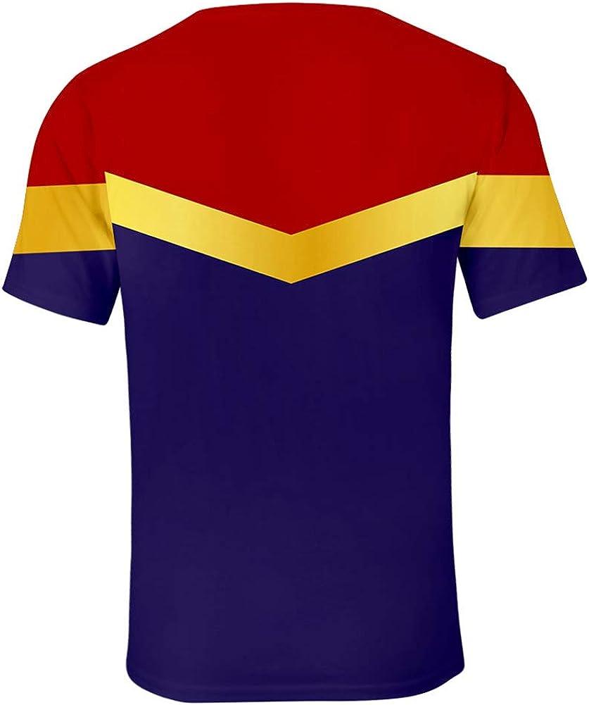 Camiseta Unisex de Cosplay 3D Capitán Marvel Uniforme, diseño ...
