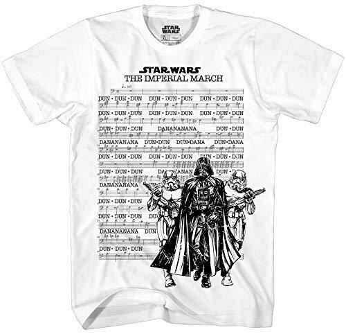 Star Wars Men's March Sheet Short Sleeve T-Shirt (Medium, White)