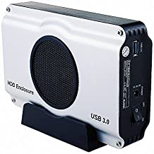 Sisun USB 3.0 3.5-Inch SATA Aluminum Hard Drive Enclosure with cooling fan (USB 3.0 Enclosure)