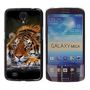 Be Good Phone Accessory // Dura Cáscara cubierta Protectora Caso Carcasa Funda de Protección para Samsung Galaxy Mega 6.3 I9200 SGH-i527 // Tiger Sleepy Feline Animal African Powerfu