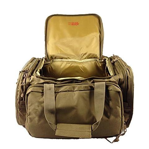 Osage River Tactical Shooting Gun Range Bag, Coyote Tan , Light Duty (13.5 x 10.5 x 7.5) Inches - Coyote Target