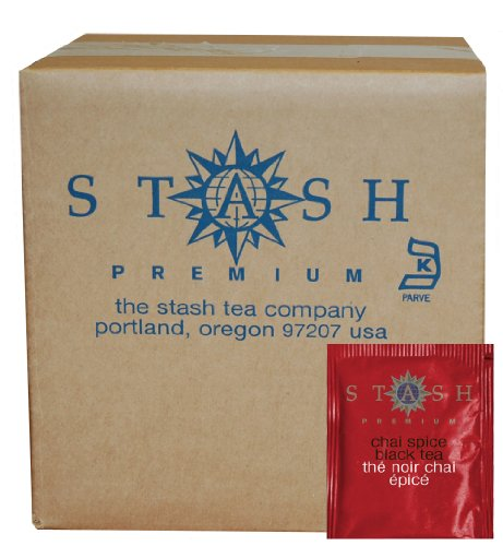 Stash Tea Chai Spice Black Tea, 100 Count Box of Tea Bags in Foil