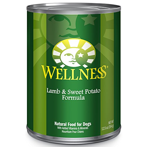 Wellness Complete Health Natural Wet Canned Dog Food, Lamb & Sweet Potato, 12.5-Ounce Can (Pack of 12)