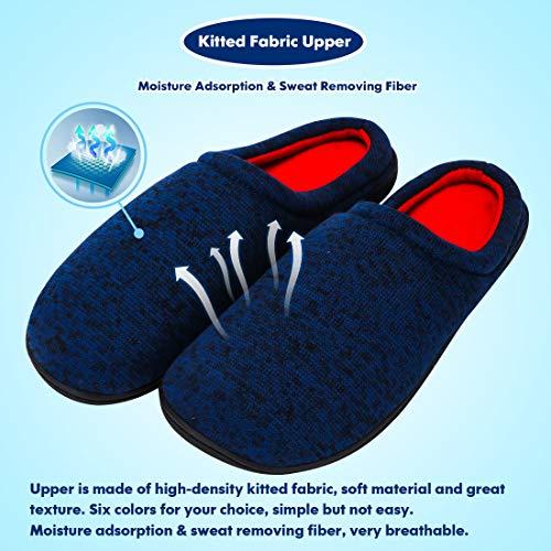 Antidérapant Coton Pantoufles Intérieur Bleu01 Hommes Respirante Chaussures Femmes Mémoire Chaussons Tissu Maison XBXaqYw