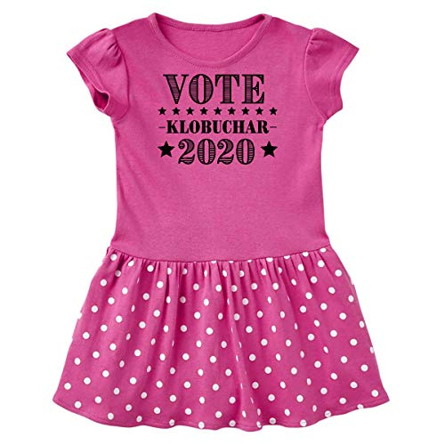 inktastic Vote Amy Klobuchar Infant Dress 18 Months Raspberry with Polka Dots