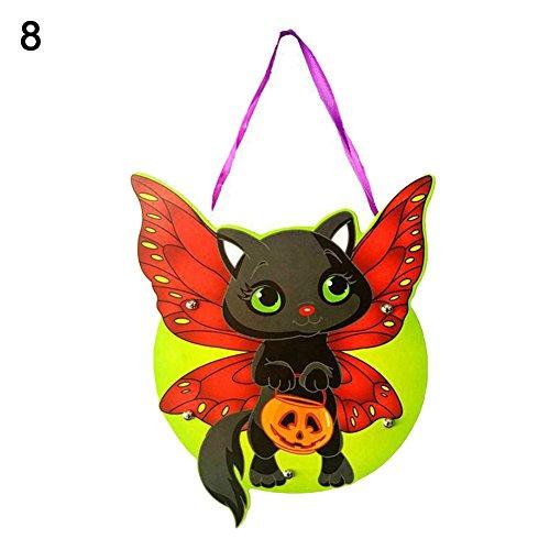ZCON Kids Handwork DIY Halloween Cartoon Ghost Castle Pumpkin Gift Candy Bag Handbag - 8# -