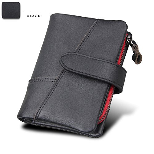 Additional RFID Black Luxury Wallet Genuine Holder Leather with Case Artmi Mens Black Card Card 7YxqFdwnaz