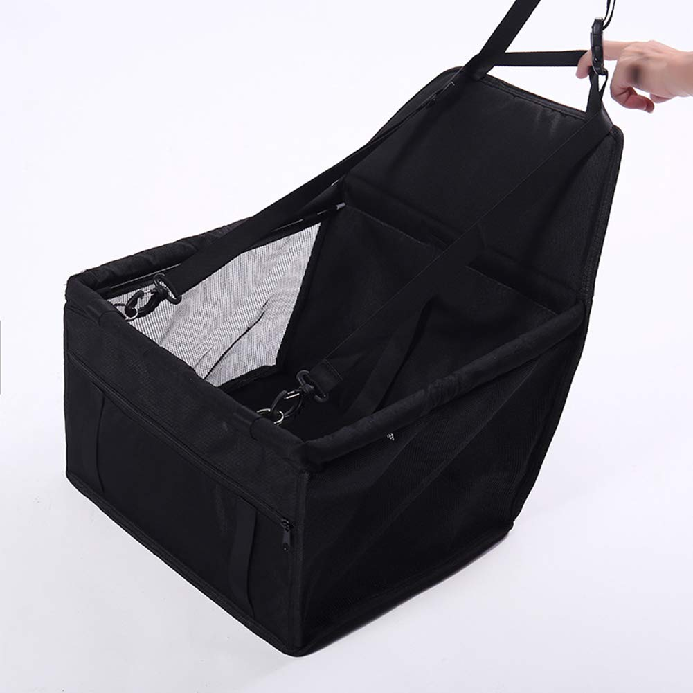Black GHH Pet Car Bag  Small Dog Thicken Pet Puppy Car Bag  Pet Outing Car Pack (size   40x30x25cm