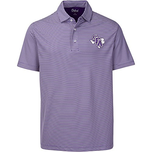 Austin Ottoman - NCAA Stephen F. Austin Lumberjacks Adult Men Calhoun 2-Tone Stripe Ottoman Polo, XX-Large, Grape