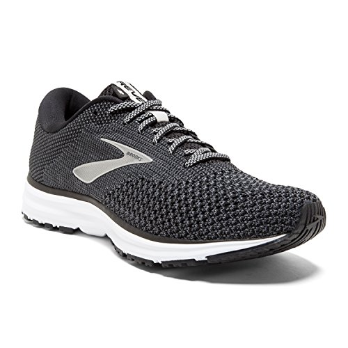 Brooks Womens Revel 2 Running Shoe - Black/Grey/Grey - B - 7.5