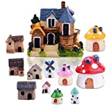 Zealor 12 Pieces Miniature Fairy Garden House and Terrarium Mushroom Fairy House Statue Review