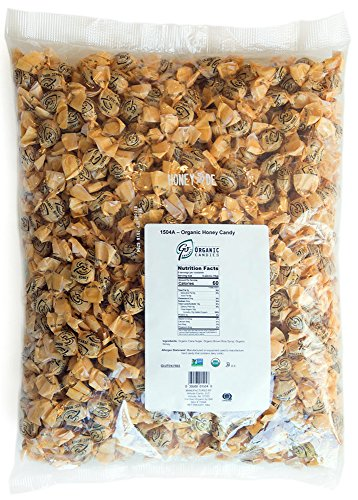 GoOrganic Organic Hard Candy | Organic Honey | Certified Organic, Gluten Free, Non GMO, Kosher, No Corn Syrup | 5 Pound Bag of Bulk Candy