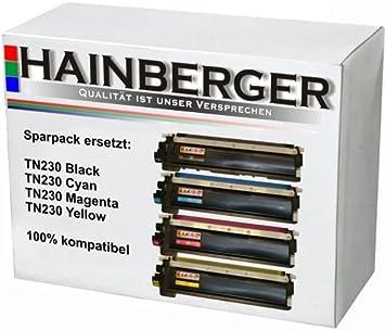 4x Hainberger Toner Für Brother Tn 230 Alle 4 Farben Für Hl3040 Und Weitere Bürobedarf Schreibwaren