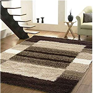 SRHandloom Modern Shaggy Carpet Rug for Bedroom, Hall and Living Room with Welcome Mat – Multicolor (2×3 Feet)