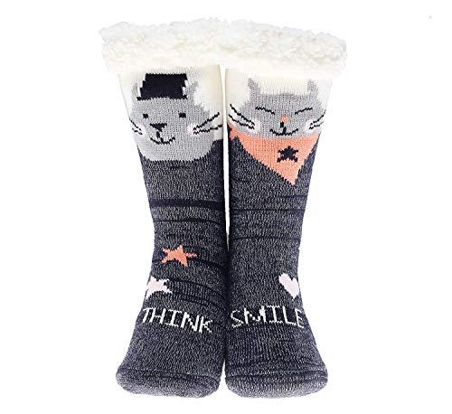 729a54b32 Slipper Socks 3D Novelty Cute Animal Knitted Extra Warm Slippers Super Soft  Winter Wool - Buy Online in Oman.
