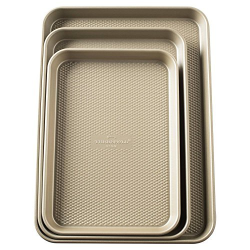 Set of 3 Cookie Sheet - Gold - Threshold by Threshold