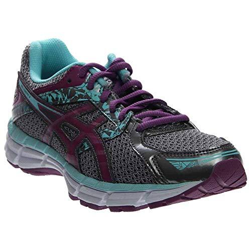 ASICS Women's Gel-excite 3 Running Shoe, Charcoal/Grape/Aqua Splash, 7.5 M US (Towns In Maine That Start With B)