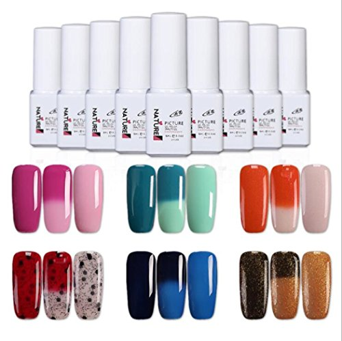 UV gel nail polish color changing UV LED Color Changing Mood