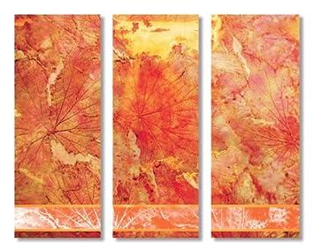 Moderne Kunst Abstrakt 3 Bilder Auf Vergoldetem Metall