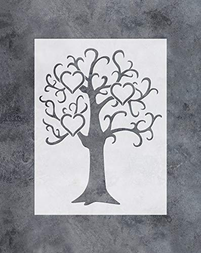 GSS Designs Family Tree Decor Stencil -3 Large Photo Picture Frames Stencil (12x16 Inch) for Painting & Craft - Living Room, Bedroom, Kids Rooms, Mural Decor-(SL-032)
