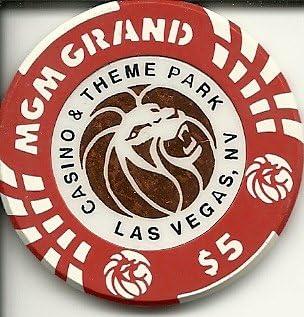 $5 mgm grand theme park obsolete las vegas casino chip
