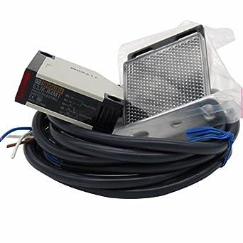 taiss proximidad interruptor E3JK-R4 M1 12 - 24 VDC reflectantes fotoeléctrico Sensor Interruptor de proximidad Interruptor Cable de 2 m inducción ...