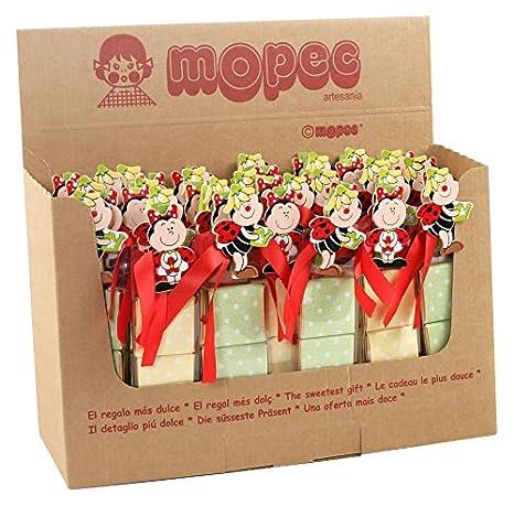 Mopec Expositor de 42 Estuches con 3 Chocolates y Pinza de ...