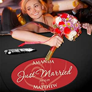 Standard (Set of 2) Embracing Hearts Wedding Window Cling