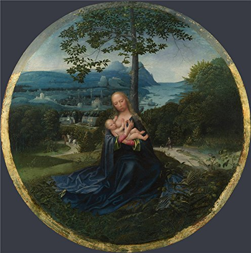 The High Quality Polyster Canvas Of Oil Painting 'Netherlandish The Virgin And Child In A Landscape ' ,size: 24 X 24 Inch / 61 X 62 Cm ,this Vivid Art Decorative Prints On Canvas Is Fit For Bedroom Decoration And Home Artwork And Gifts
