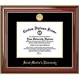 Saint Martin's University Saints - Gold Medallion - Mahogany Gold Trim - Diploma Frame