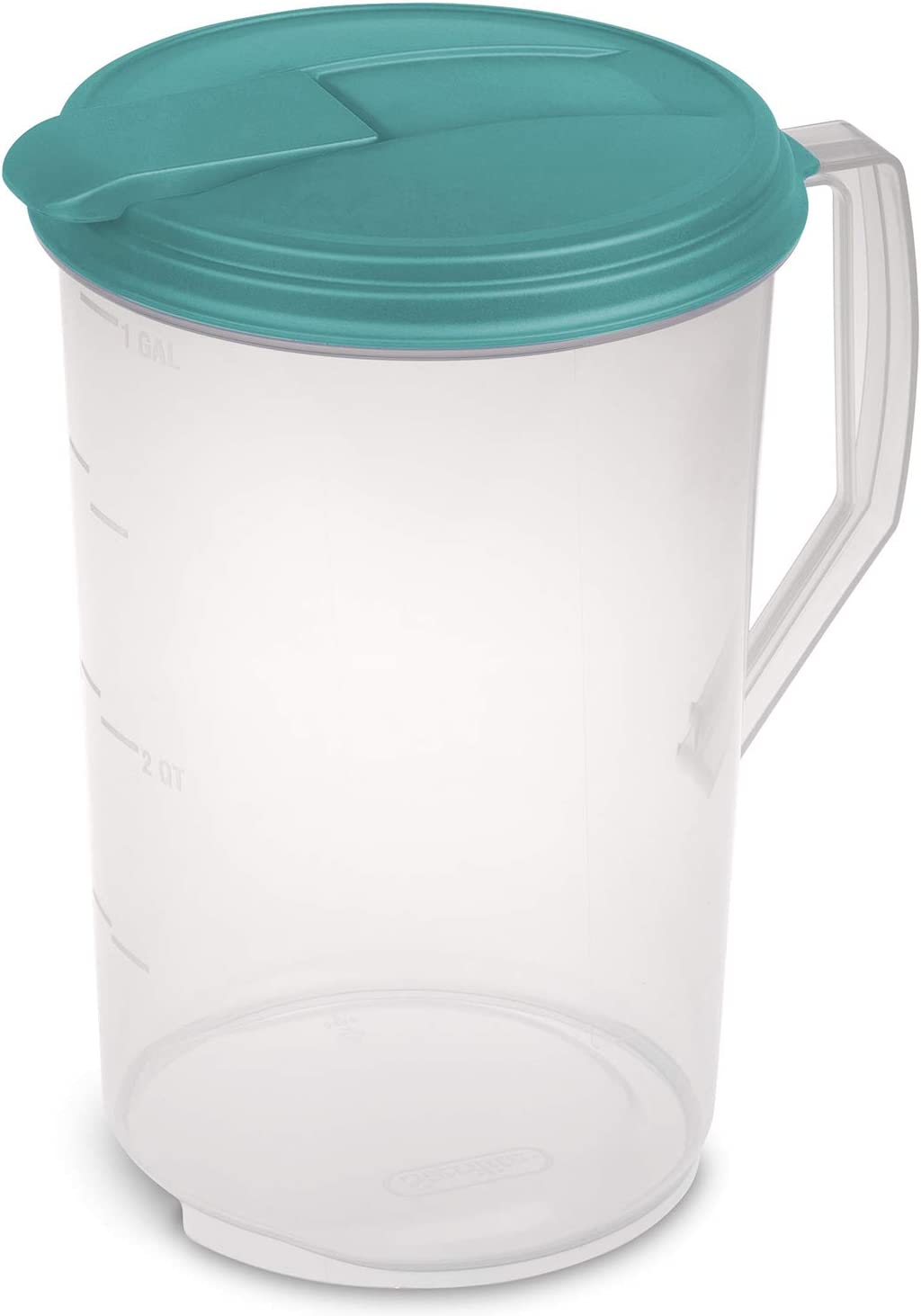 STERILITE 498971 Round Pitcher, Clear & Blue Atoll