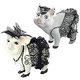 Design Toscano Lace, Lard & Porker on Patrol Pig Statues For Sale