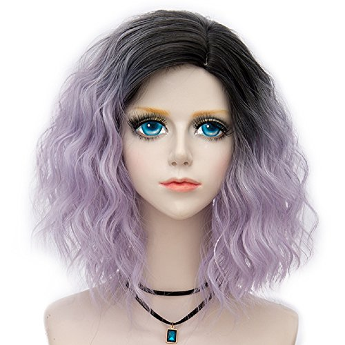 Probeauty Swinger Collection Ombre Hair Costume Wigs Women Central Part Cosplay Wig (Lilac -