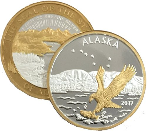 Solid Gold Coin (2017 Official State Medallion 1oz Double Gold Relief Proof)