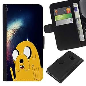 All Phone Most Case / Oferta Especial Cáscara Funda de cuero Monedero Cubierta de proteccion Caso / Wallet Case for HTC One M9 // Adventure Space