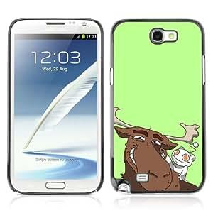 Designer Depo Hard Protection Case for Samsung Galaxy Note 2 N7100 / Reddit Alien & Moose