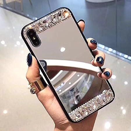 Shinyzone Spiegel Handyhü lle fü r Huawei P20 Pro, Stilvoll Hart PC Zurü ck Hü lle, Flexibel Gummi Gel Bumper Kante Bilden Spiegel Schutzhü lle fü r Huawei P20 Pro, Silber Spiegel