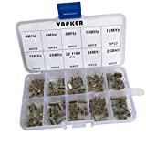 VAPKER 100 Pcs 10 value DIP Quartz Crystal Oscillator 4M,6M,8M,10M,12M,16M,20M,22.1184M,24M,25M Crystal Resonators Oscillator Assortment Kit