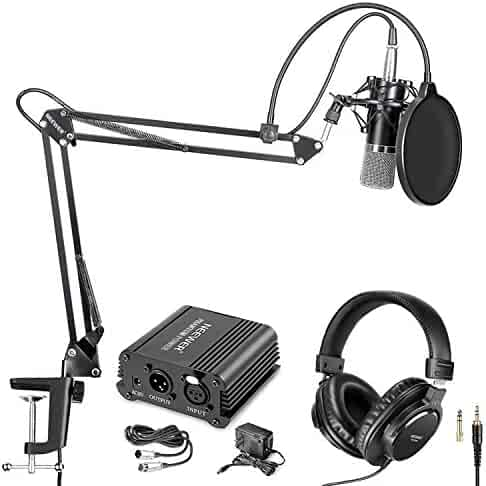 Shock Mounts in Vocal Recording Broadcasting and Press Conference Neewer Adjustable Microphone Bar Zinc Alloy Construction with 5//8-inch Screws for Holding 2 Mics or Boom Arms