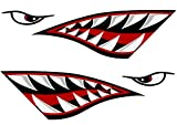 Alemon Shark teeth Mouth Reflective Decals Sticker...